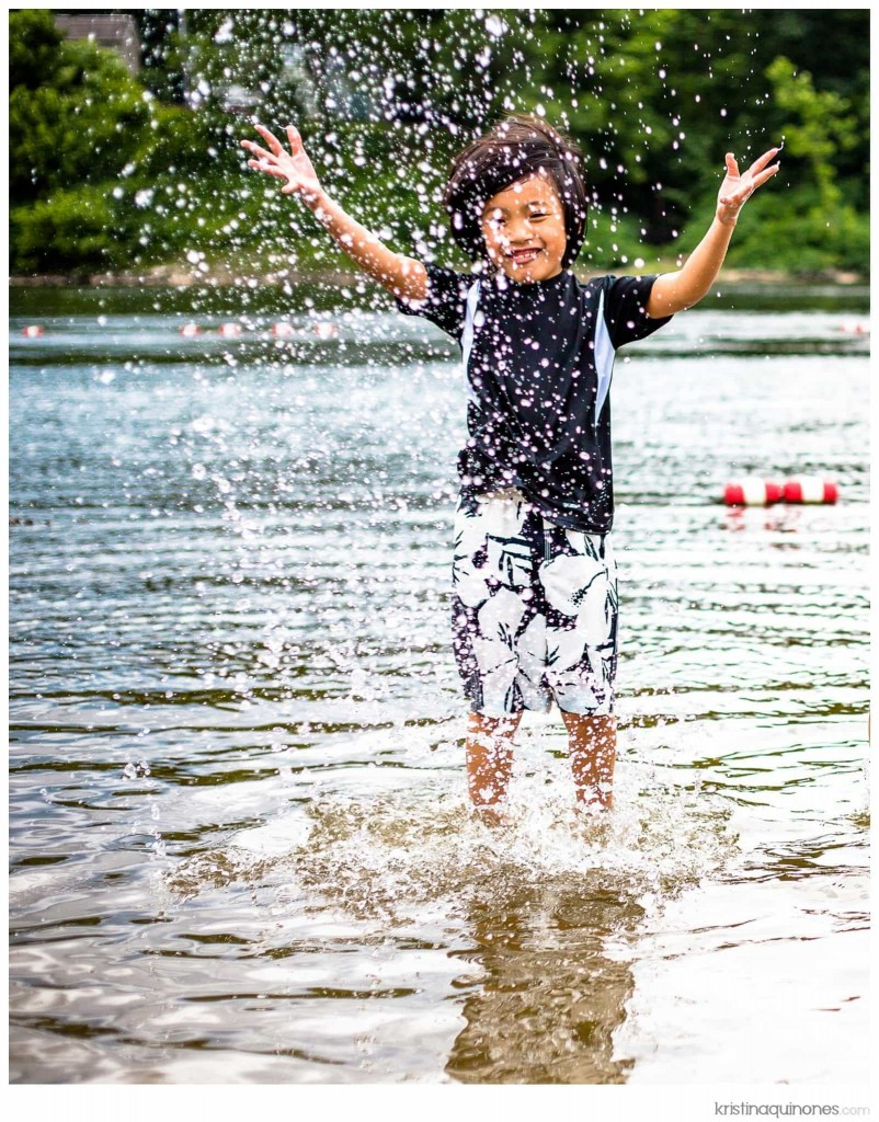 Splashing along the Upper Delaware River - taken with a 50mm lens
