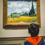 """Vincent van Gogh's """"Wheat Field with Cypresses at the Haute Galline Near Eygalieres"""" at the Metropolitan Museum of Art for kids - Temple of Dendur"""