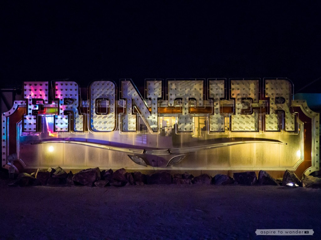 The Frontier sign at the Neon Boneyard aka the Neon Museum in Las Vegas