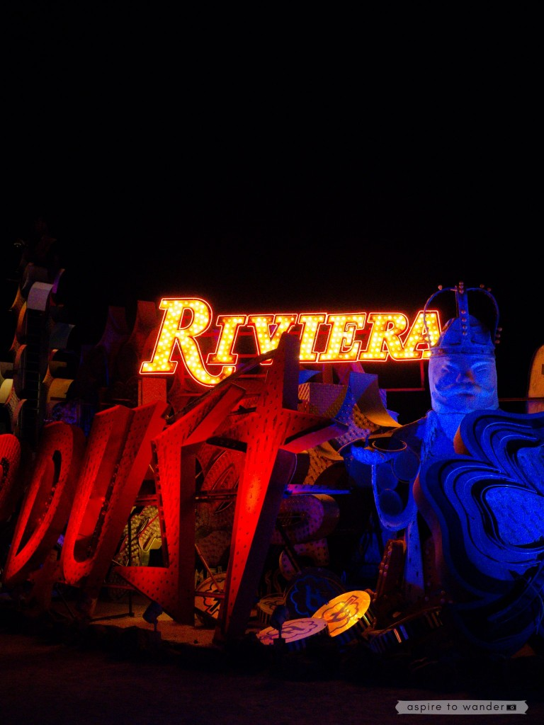 The Riviera sign at the Neon Boneyard aka the Neon Museum in Las Vegas