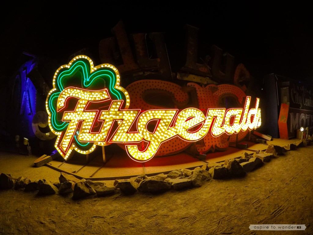 The Fitzgeralds sign at the Neon Boneyard aka the Neon Museum in Las Vegas
