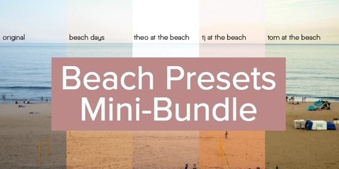 Beach Presets Mini-bundle - Free lightroom presets