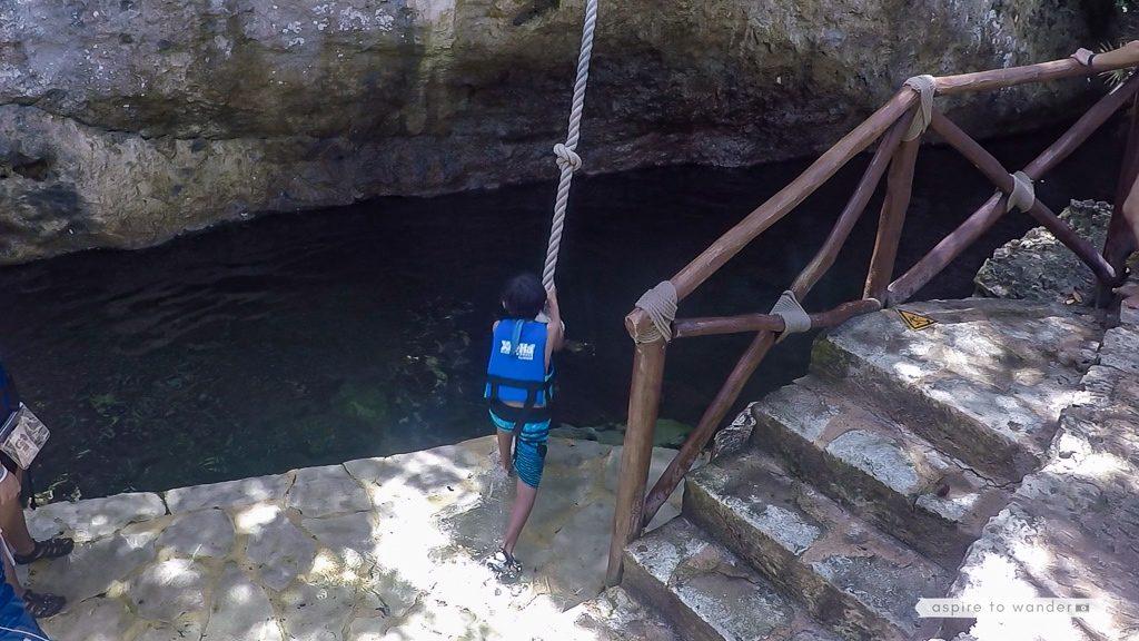 Xel-Há rope swing