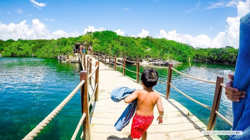 Visiting Mexico's Xel-Há Park with kids