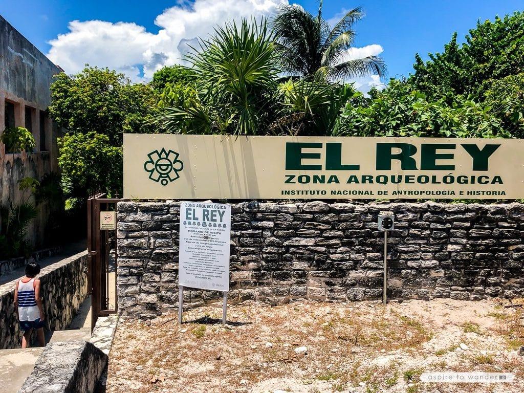 El Rey Mayan Ruins, Entrance, Cancun Mexico