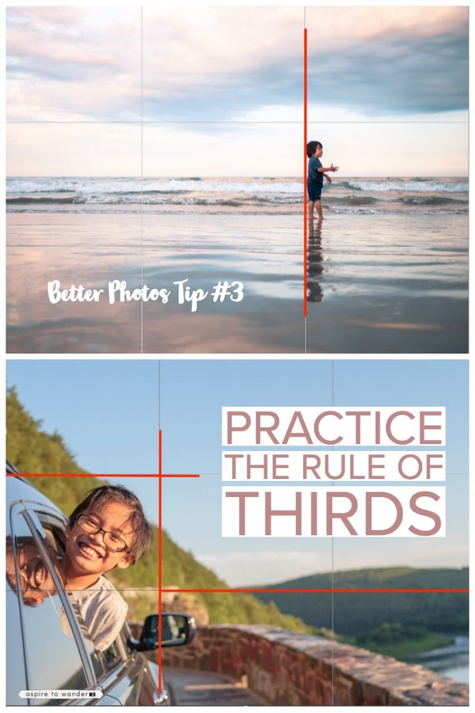 Tip #3 for taking better photos: follow the Rule of Thirds!