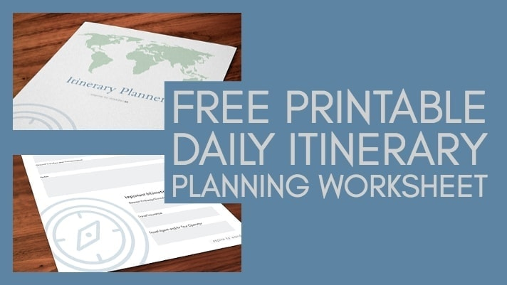 printable travel itinerary planner