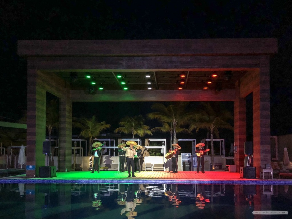 Mexican Night at the Royalton Riviera Cancun Resort and Spa - mariachi band