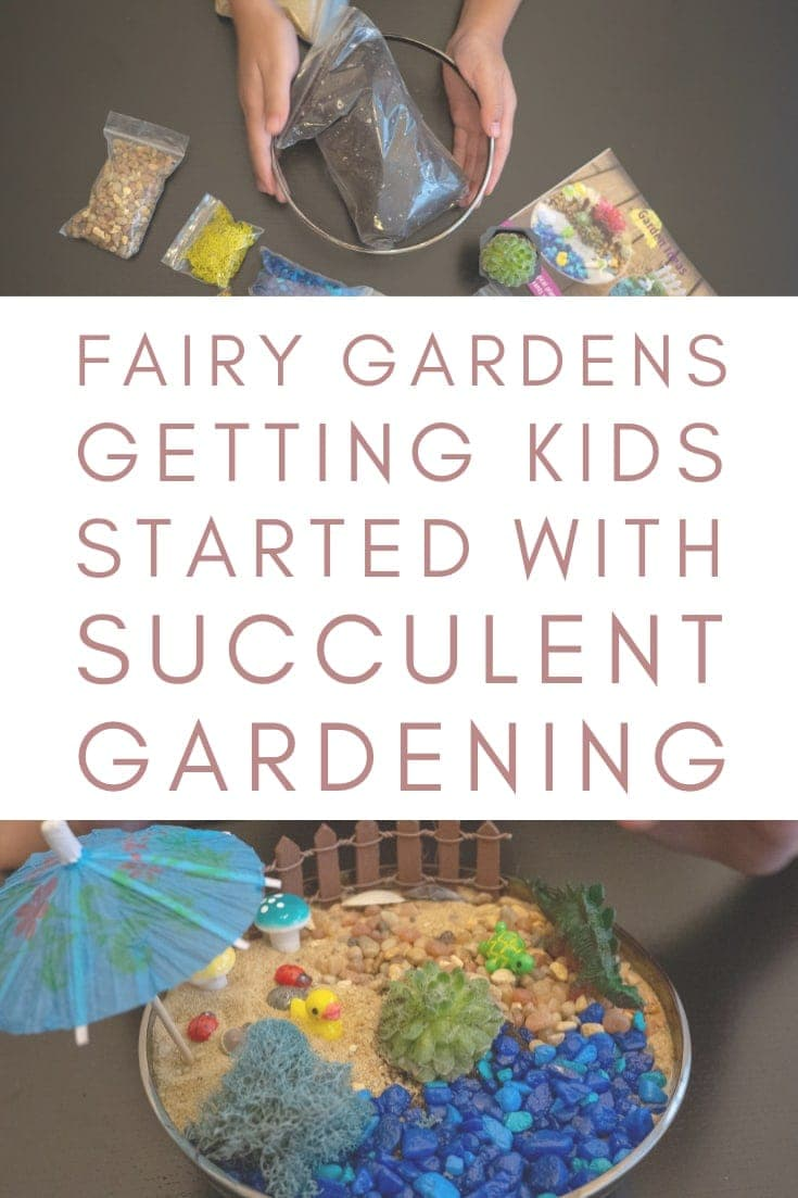 Introducing kids to succulents with Party'n With Plants Fairy Garden Kits