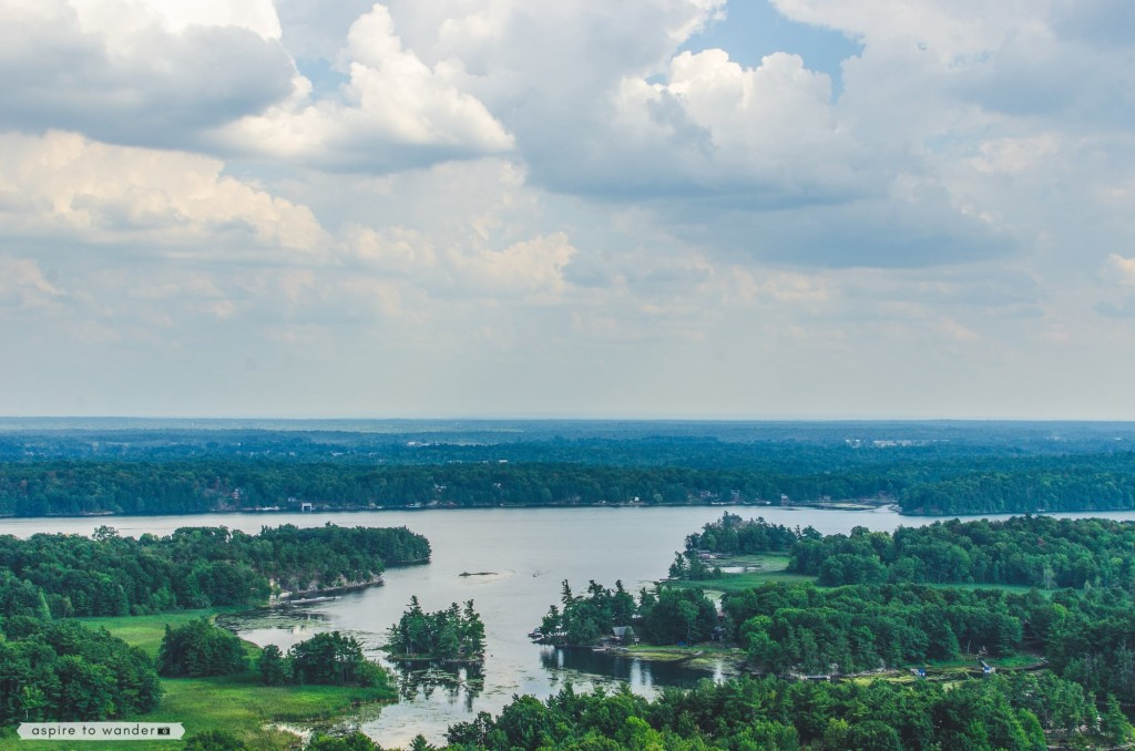 The Thousand Islands - view from 1000 Islands Tower