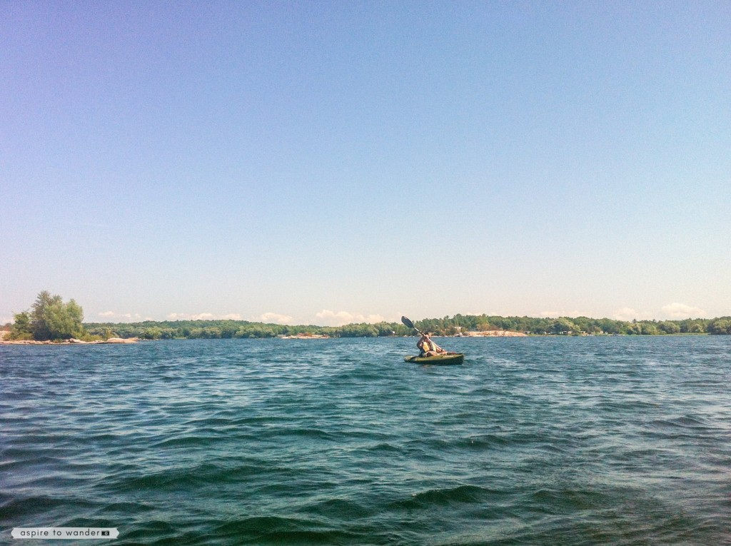 Kayaking on the St. Lawrence River - Thousand Islands
