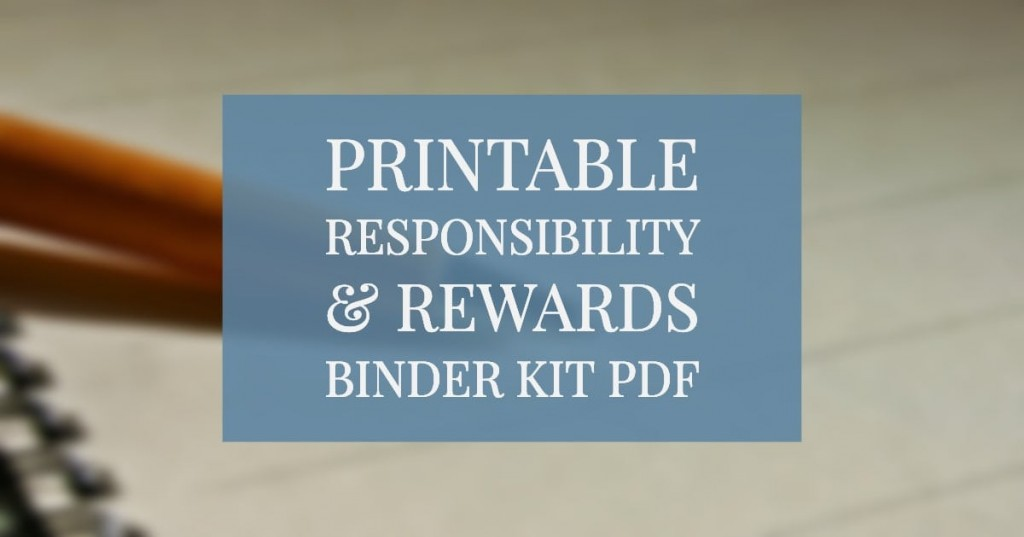 Printable Responsibility and Rewards Chart - PDF Download