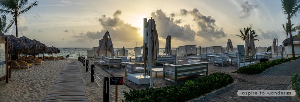 The Star Prestige exclusive beach area at the Iberostar Dominicana in Punta Cana, Dominican Republic