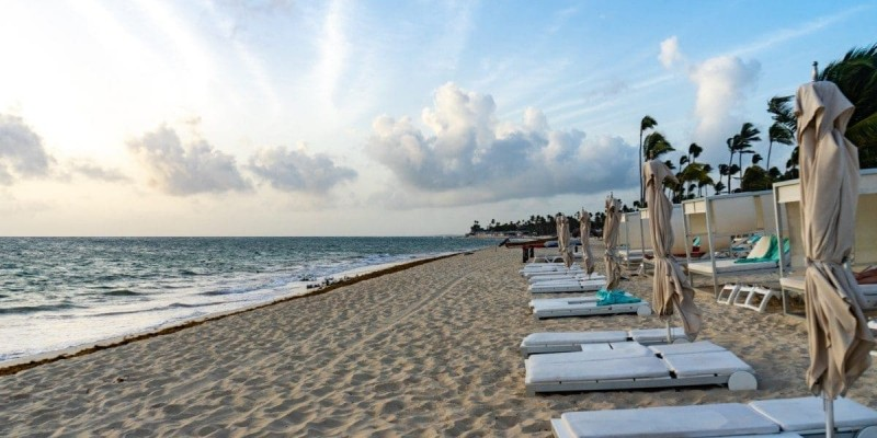 The Star Prestige beach area at the Iberostar Dominicana - Punta Cana, Dominican Republic