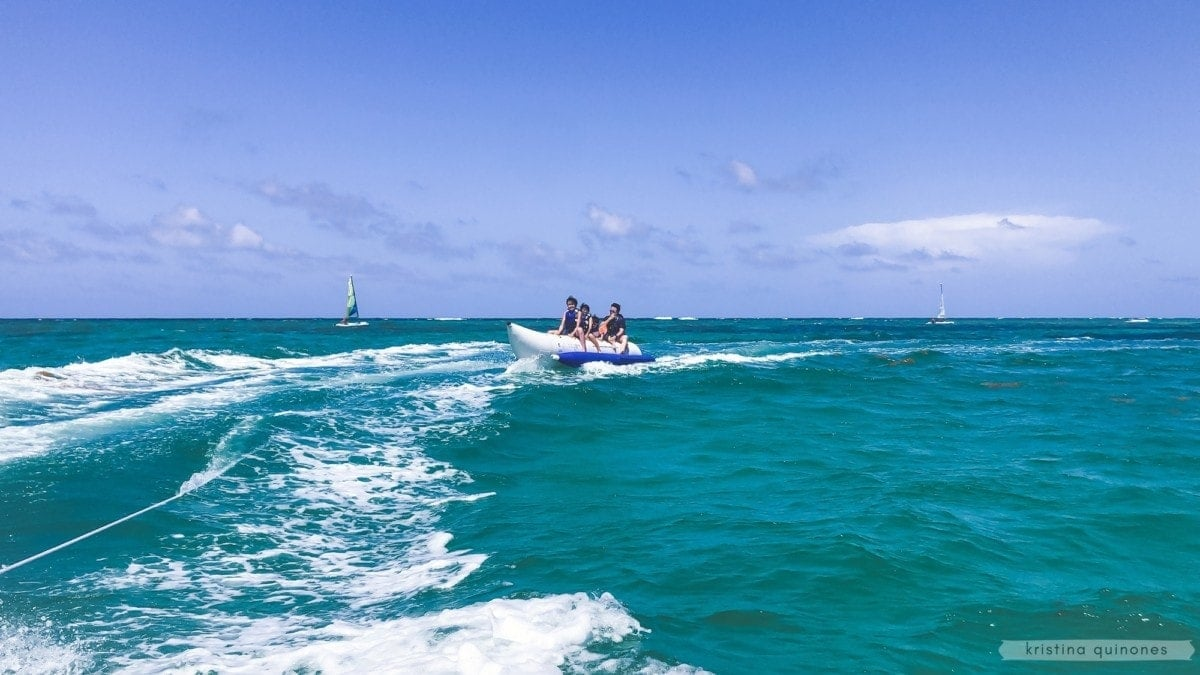 Banana boat ride in Punta Cana